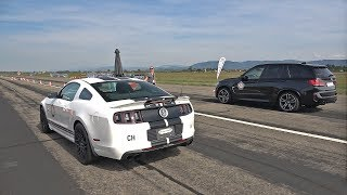 662HP Shelby Mustang GT500 SVT vs 740HP BMW M6 vs 700HP BMW X5M