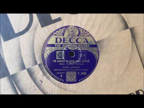"Elsie Carlisle (with The Embassy Rhythm Eight) - ""I'm Afraid to Open Your Letter"" (1935)"