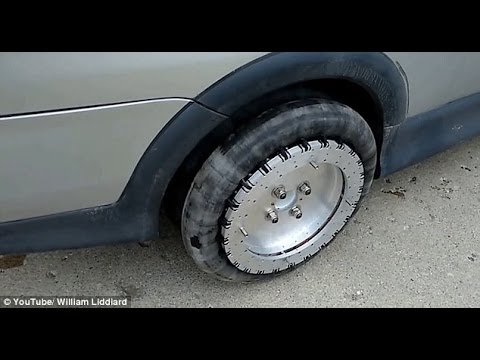 incredible set of tyres in action as vehicle moves in ALL directions & e...