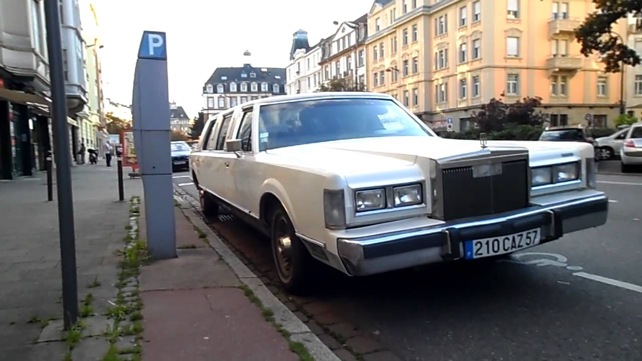 Lincoln Limousine To 1988 Startup And Driving On The Street Youtube