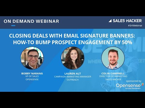 Closing Deals With Email Signature Banners: How-To Bump Prospect Engagement By 50%