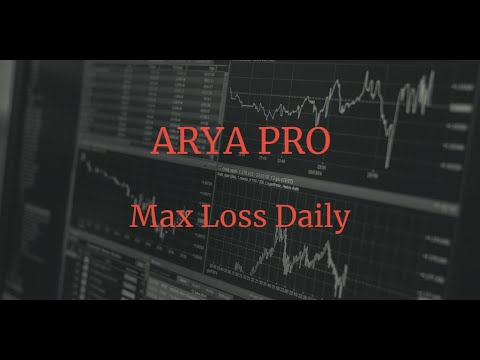 Avis ARYA PRO trading: fonction Max Loss Daily 1