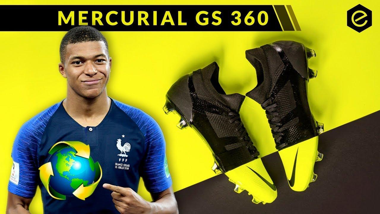 tenedor Adviento Departamento  LAS BOTAS DE MBAPPE SON RECICLADAS - Nike Mercurial GS 360 - YouTube