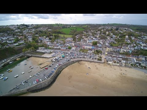 Saundersfoot Pembrokeshire with a Drone.