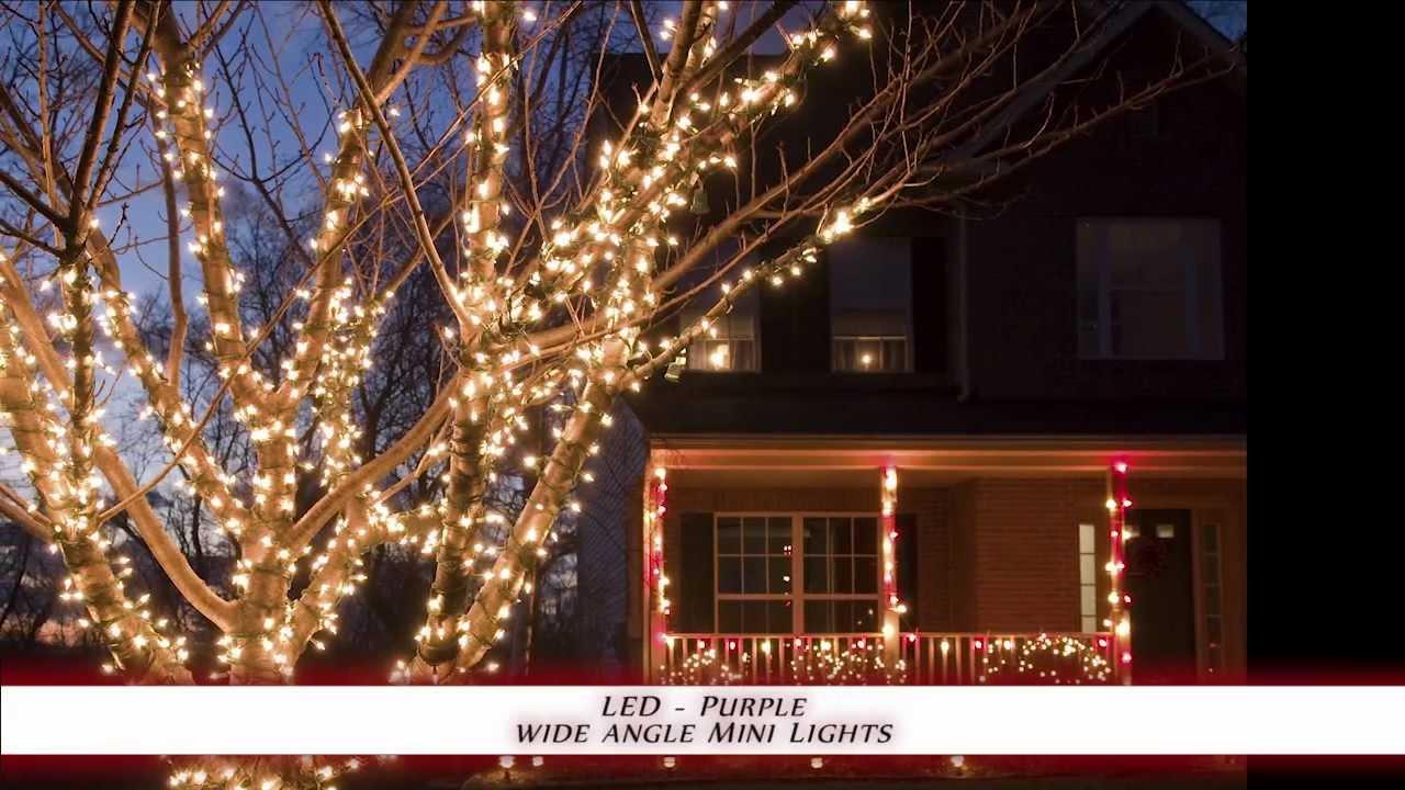 led wide angle mini lights purple