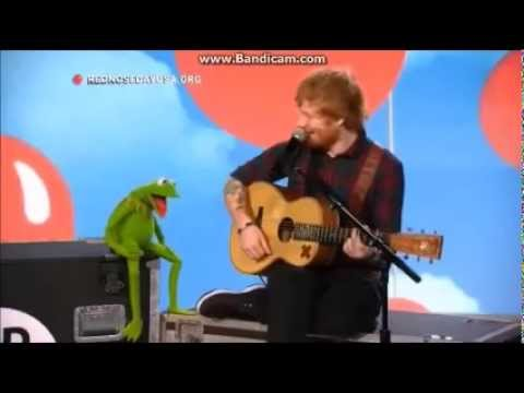 Ed Sheeran singing Rainbow Connection with Kermit the Frog on Red Nose Day 2015