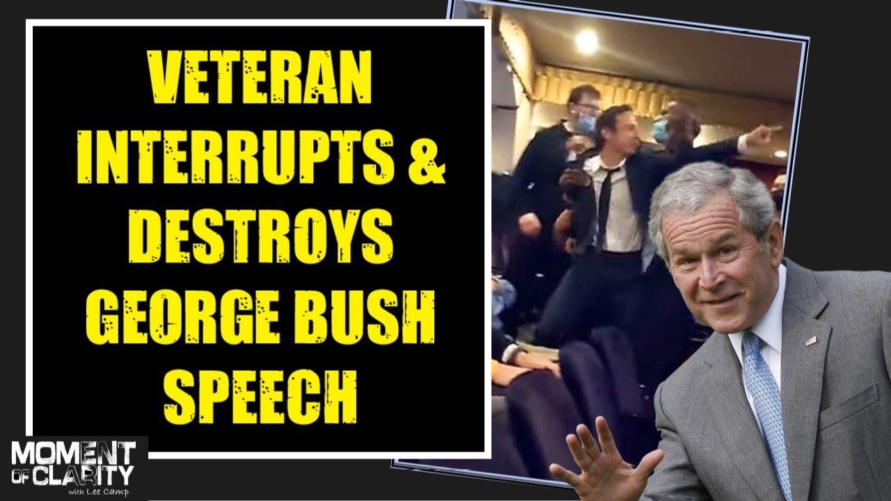 Veteran Interrupts & DESTROYS George Bush Speech