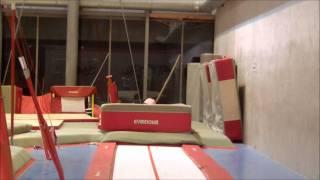 Entrainement Gym : Testes du double salto arrière !