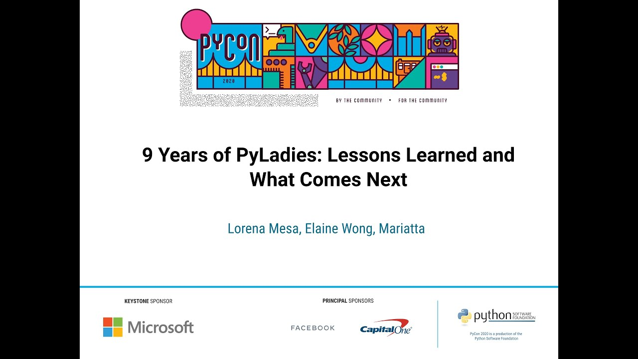 Image from 9 Years of PyLadies: Lessons Learned and What Comes Next