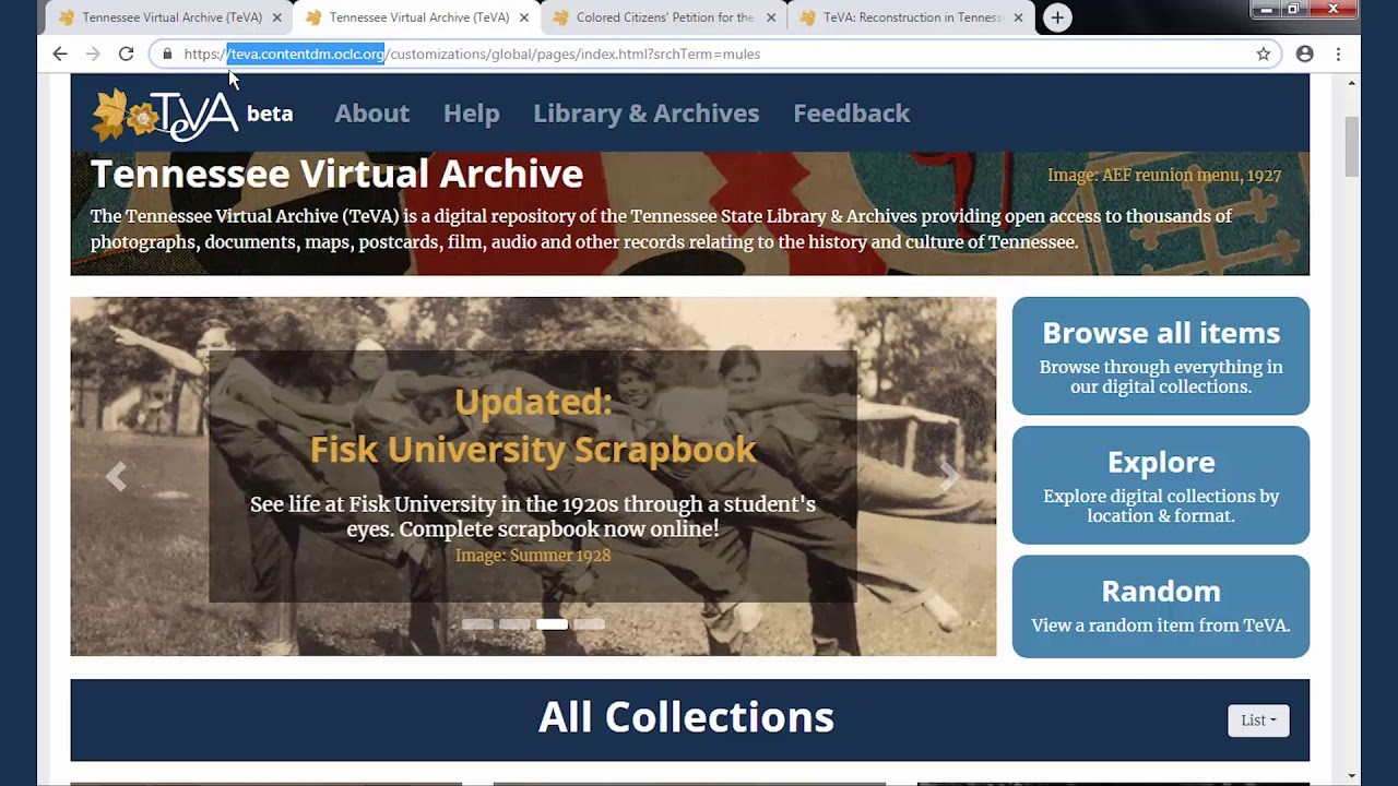 Tennessee State Library and Archives | Tennessee Secretary