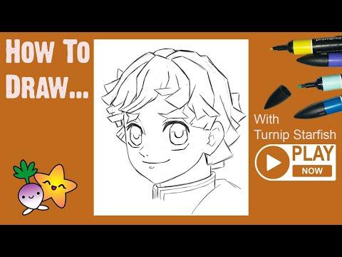 HOW TO DRAW Zenitsu From Demon Slayer - Turnip Starfish