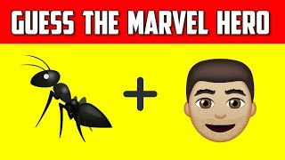 Can You Guess The Marvel Hero By Emoji? | Emoji Challenge | Emoji Movie Puzzles