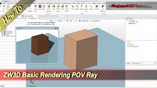 ZW3D How To Render With POV Rays Basic Tutorial For Beginner