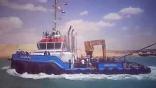 See the moment you enter Sultan Al Jaber, UAE Minister of State for the new Suez Canal, 65 km