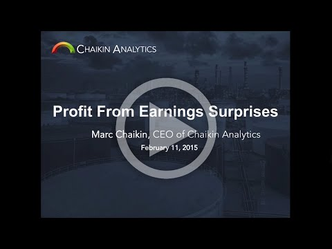 Profit From Earnings Surprises   Presented by Marc Chaikin
