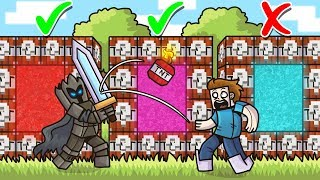 DO NOT Choose The WRONG TNT LUCKY BLOCK PORTAL in Minecraft - Lucky Block Portal Mini-Game