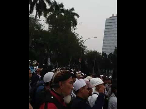 Merinding! Shalawat Asyghil Dilantunkan Aksi Tolak Perppu Ormas
