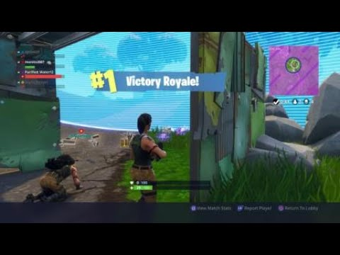 Fortnite first WIN on camera! Ft purified water