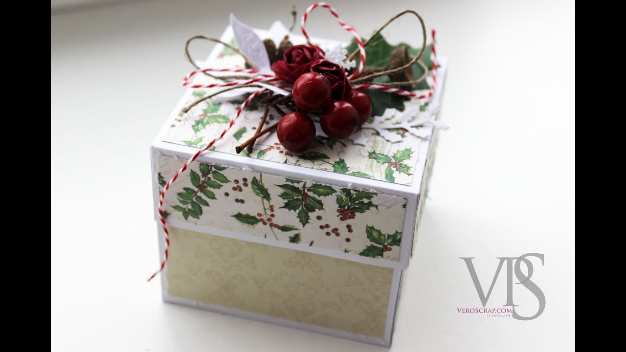 Как сделать и украсить подарочную коробочку из бумаги - Мама 87