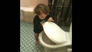 First time going potty