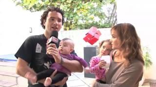 Marco Luque apresenta a filha caçula Mel