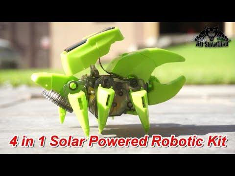 4 in 1 Solar Powered Robotics Kit Provides Children STEM Learning