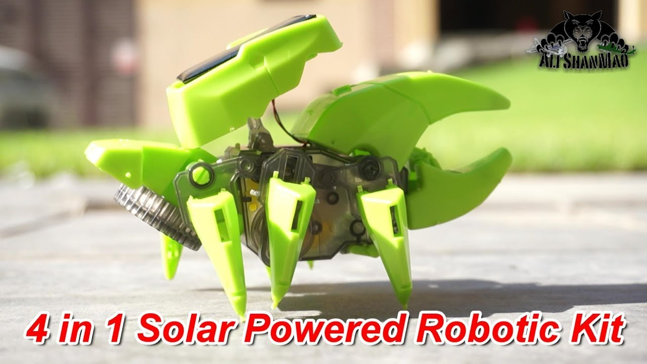 4 in 1 Solar Powered Robotics Kit Provides Children STEM Learning