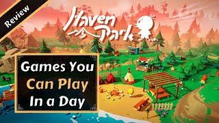 Haven Park Game Review | Games You Can PLAY IN A DAY (Nintendo Switch/PC)