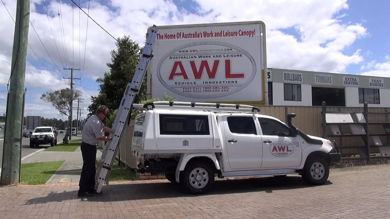 AWL CANOPIES Presents SAFESTOW LADDER SLIDE - YouTube
