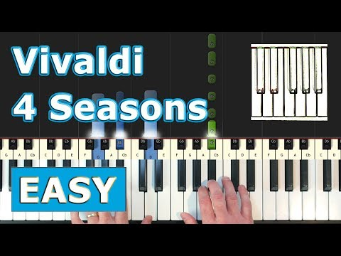 Vivaldi - Spring - EASY Piano Tutorial - Sheet Music (Synthesia) thumbnail