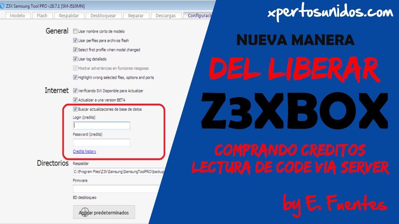 liberar samsung con z3x box via credito (nueva manera de liberar)