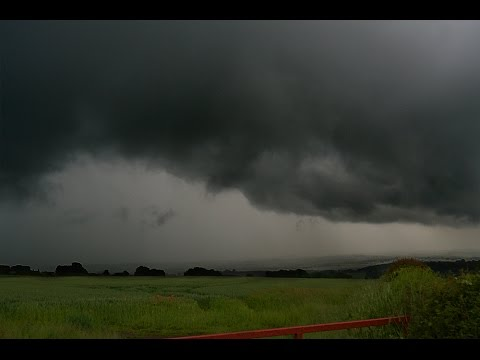 Supercell Storm Dronfield, UK - (pos) Tornado & Multiple Funnels!! Stunning Supercell