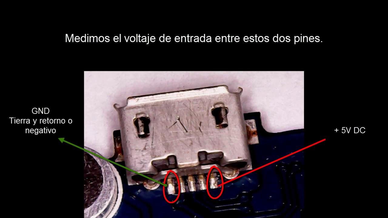 Puerto De Carga Celular Y Tablet Reconocimiento Y Voltaje