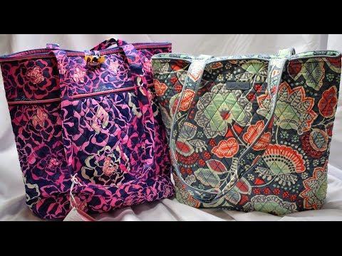 My huge Vera Bradley tote collection comparison of old and new tote style