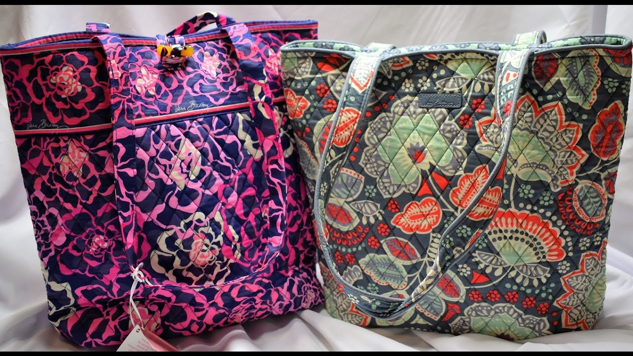 2cbd82df81ee My huge Vera Bradley tote collection comparison of old and new tote style
