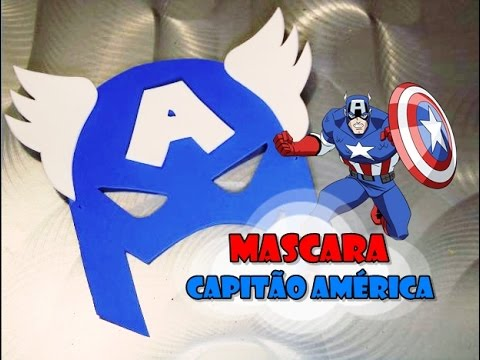Diy Máscara Do Capitão América Youtube