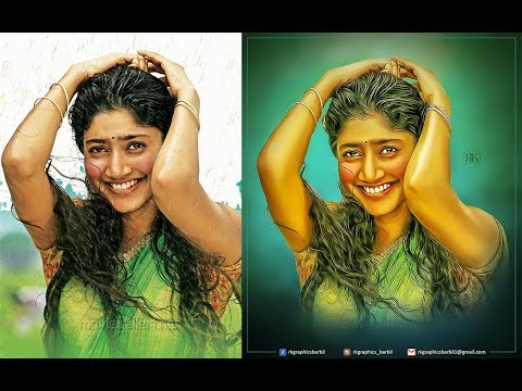 DIGITAL PAINTING OIL PAINT EFFECT IN PHOTOSHOP CC BY RK GRAPHICS