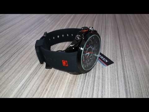 d48062a812f Relógio Curren pulseira de borracha super confortável - YouTube