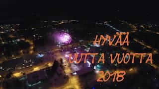 Vieremän ilotulitus 2017-2018 (ilmakuvaa)