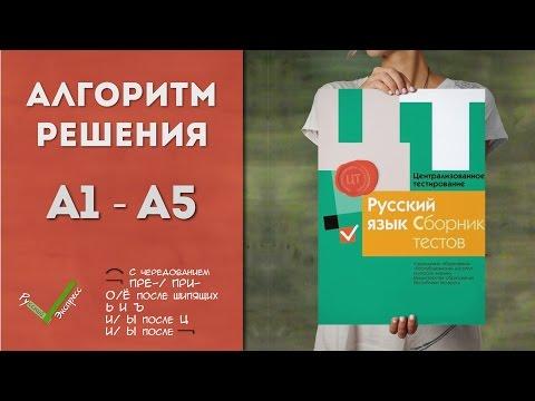 Видеоразбор ЦТ по Русскому [А1-А5   2015]