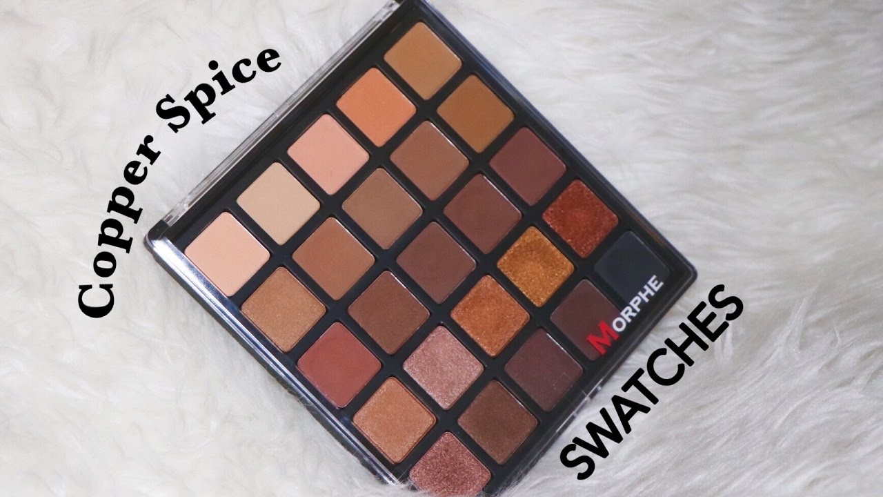 NEW Morphe Brushes 25A Copper Spice Palette  SWATCHES