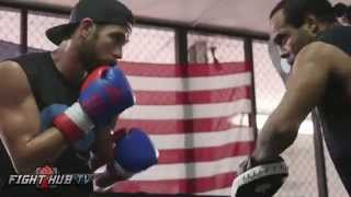 Chris Algieri vs. Eric Bone full video- Algieri media workout video