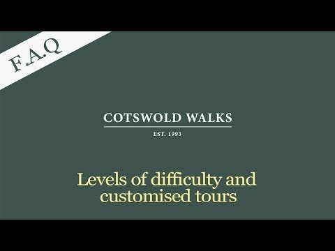 FAQs - Levels of difficulty and customised tours in the Cotswolds