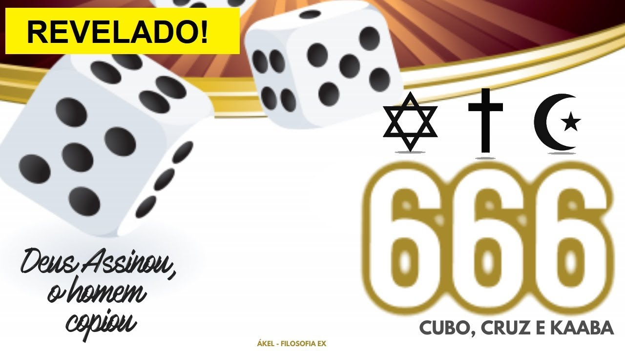 🎲 Por que o DADO tem 6 lados? Por que ISLAMISMO, CRISTIANISMO e JUDAÍSMO é 666?