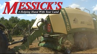 Krone Big Pack 1290 Baling in the Field  | Messicks & Onelonleyfarmer