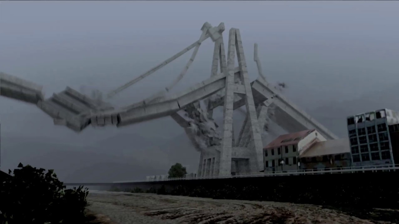 Video del crollo ponte Morandi