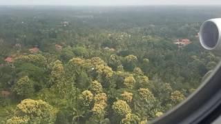 Through the Clouds view of Sri Lanka when Qatar Airways Flight landing