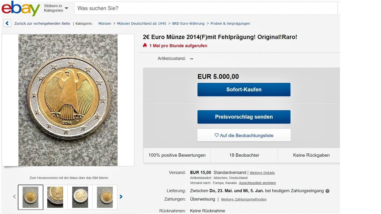 Ebay 1 Euro 2 Euro Defect Where To Sell Ebay Online Auction 5000