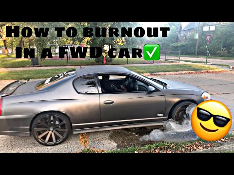 How To Burnout In A Automatic Front Wheel Drive Car✅