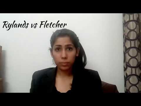 Rylands vs Fletcher ( Rule of strict liability)
